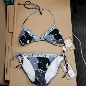 Juicy Couture Storm Bikini Set Womens Size Med